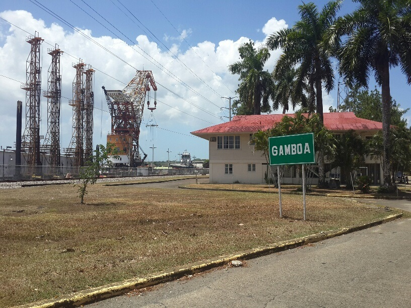 Gamboa is right beside the Panama Canal and the passenger and cargo train that cuts across Panama.