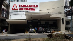 Clinica Einstein and Arrocha Pharmacy is half a block from SpanishPanama language school on Via Argentina