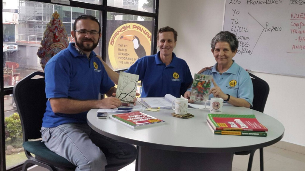 The Spanish teachers at Spanish Panama Spanish school are the most professional in Panama City. They have interesting lives and versatile interests and hobbies. Some are famous Panamanian authors! Most are bilingual and one even speaks 5 languages. Another teacher has 35 years teaching Spanish in Panama and is renowned in Panama in her field!