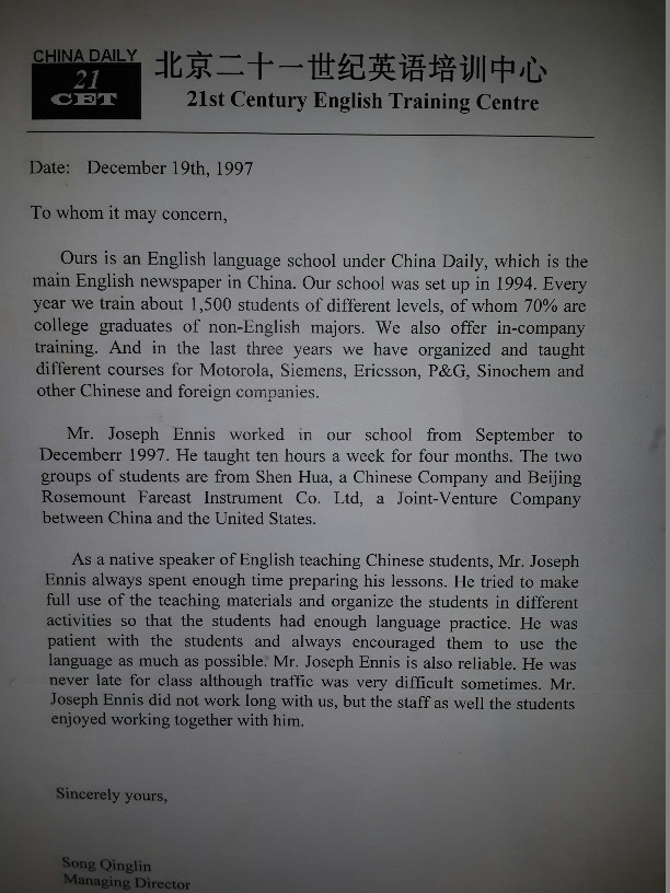 在巴拿马做生意学习西班牙语的重要性 Spanish Panama Director, Joseph Ennis, and China Daily (SpanishPanama language school)