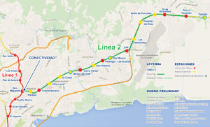 Panama Metro Subway  near our Spanish School MAP