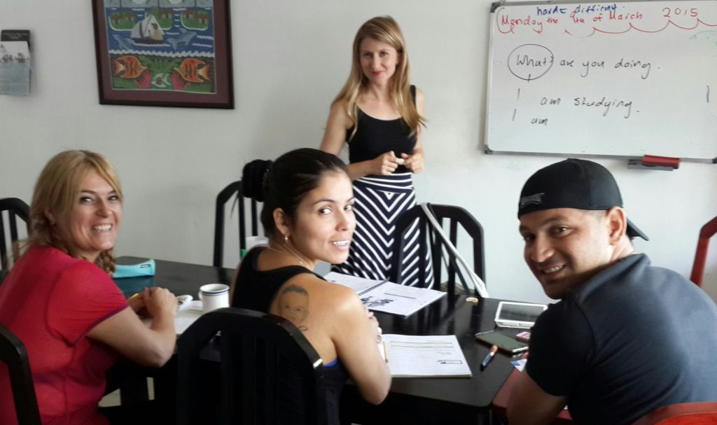 English classes in small group at Spanish Panama Language School right on Via Argentina