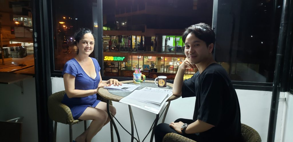 Personalized Spanish classes one on one at Panama's best location, Spanish Panama Language School, over-looking Panama life in the heart of the street of Via Argentina.